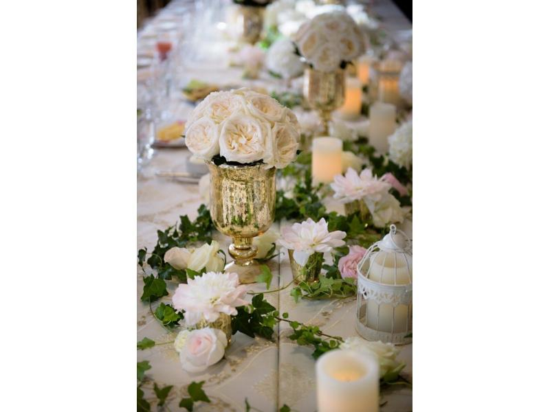 Golden Accent Table Pieces